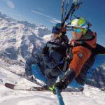 Parapente en hiver à Valmeinier