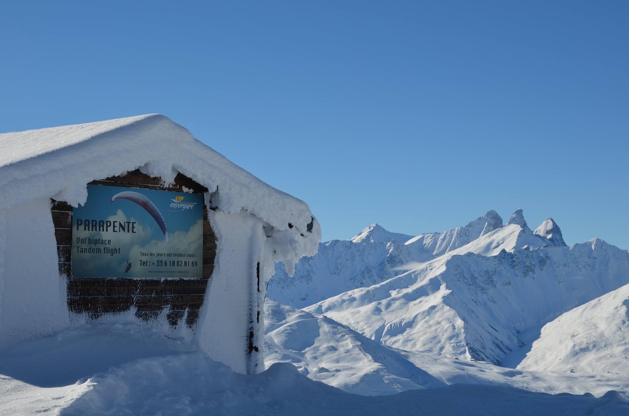 Sommet Valmeinier en hiver