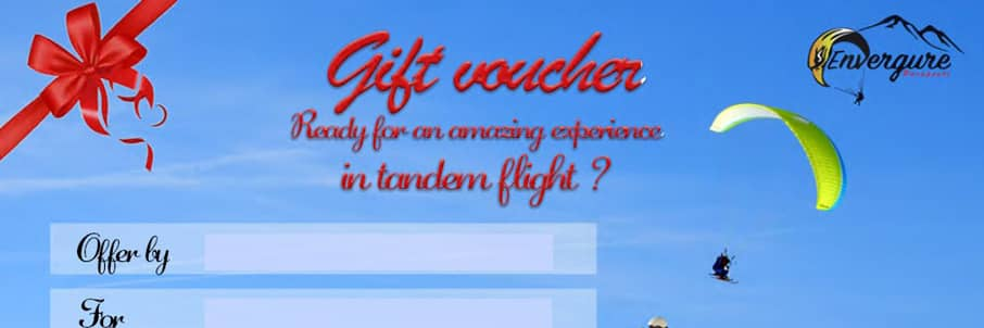 gift voucher paragliding baptism