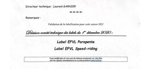 Label EFVL 2021